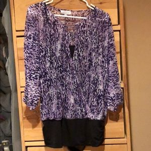 Jennifer Lopez XL purple leopard top